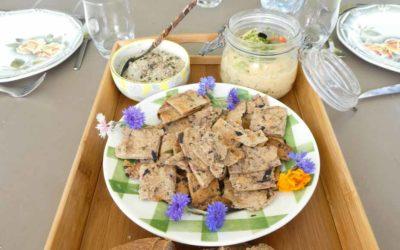 Crackers aux olives et fines herbes